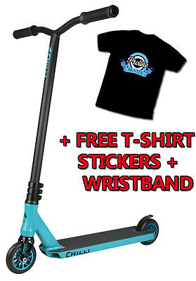 Chilli Pro Complete Stunt Scooter - Ice Reaper + FREE TSHIRT