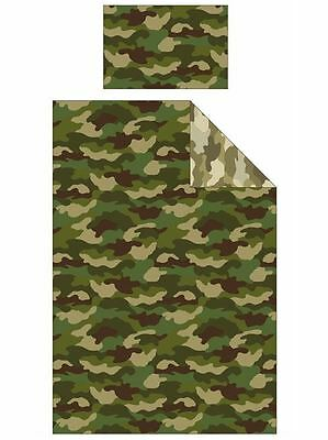 Army Camouflage Reversible Single Duvet and Pillowcase Set