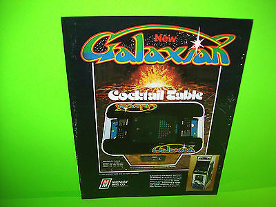 Midway GALAXIAN 1979 Original Cocktail Table Video Game Arcade Machine Flyer