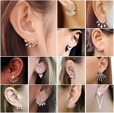 HOT Fashion Women Lady Crystal Rhinestone Ear Stud Earrings Wedding Jewelry Gift