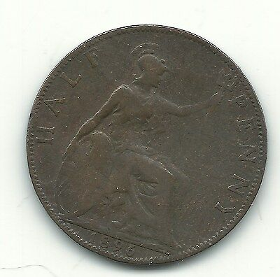Very Nice 1896 Great Britain English 1/2 Half Penny Cent-Mar619