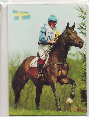 #167 Lars christensson SWE -  equestrian collector card