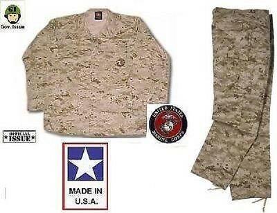 US Marine Corps USMC MARPAT Desert Marsoc Hose Jacke pants shirt Medium Long