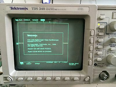 TEKTRONIX TDS340 100MHz 500MSa/s OSCILLOSCOPE; CAL & 1 YEAR GUARA AVAIL @extra