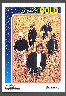 Shenandoah, Country Music Stars on a 1992 Country Gold Card #45