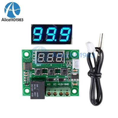 -50-110°C Blue W1209 Digital Thermostat Temperature Control Switch Sensor DC 12V