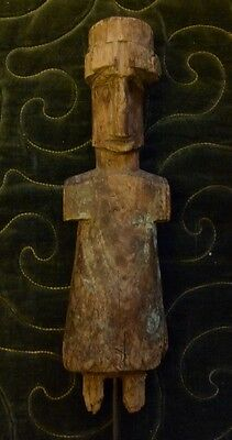 Rare Original Antique African Wood Statue Figure Very Old No Reserve