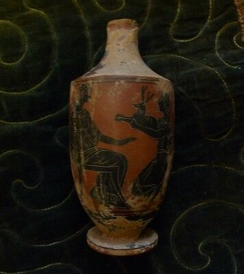 Very Rare Museum Quality Ancient Greek Pottery Oil Ewer Decorated No Reserve