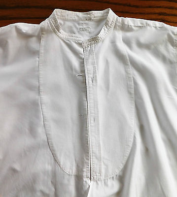 Vintage white pique tunic shirt size 15.5 Rocola 1920s 1930s evening dress wear