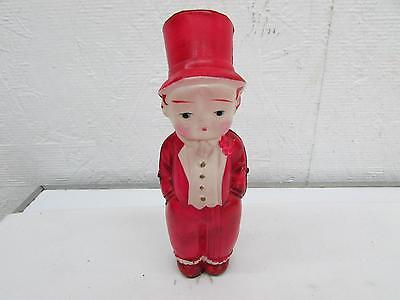 """1920's Japan Celluloid Top Hat Dapper Young Boy Doll Hand Painted Pink 5"""""""