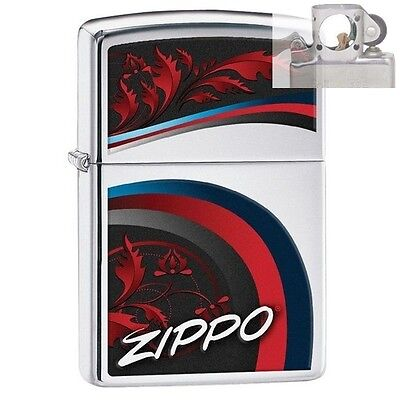 Zippo 29415 Elegant Swoosh High Polish Lighter with PIPE INSERT PL