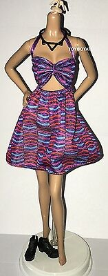 Barbie Fashionistas Model 57 Curvy Doll Outfit Zig & Zag Halter Dress Shoes NEW
