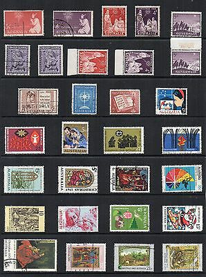 CHRISTMAS Thematic Stamp Collection AUSTRALIA MINT USED  Ref:TS203