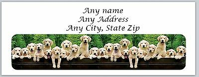 30 Personalized Address Labels Cute Dogs Buy 3 get 1 free (ac 530)