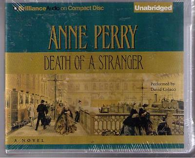 NEW ! Death of a Stranger  by Anne Perry (2011) CD Unabridged Hard Case !!!