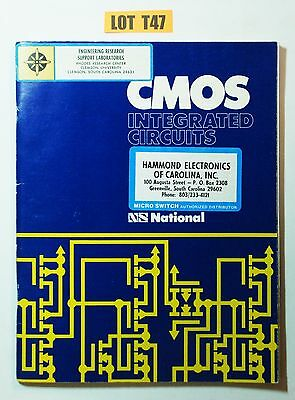 National Semiconductor CMOS Integrated Circuits Book 74C databook 1974 LOT T47