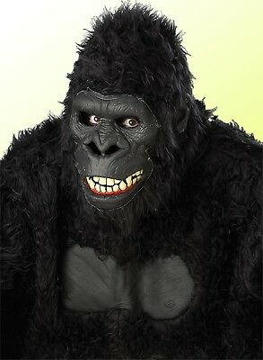 Adult Motion Gorilla Prop Mask Animal Ape Halloween Party Accessory Costume
