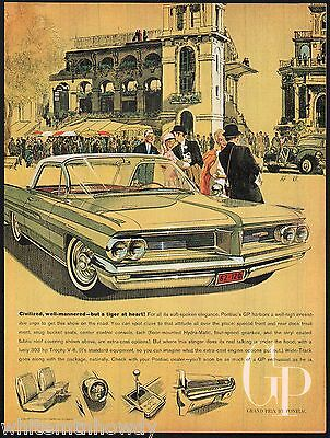 1962 PONTIAC GRAND PRIX 2-door Hardtop Classic Car AD