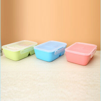 Geart Microwave Portable Lunch Box Bento Food Picnic Container Storage Box Spoon