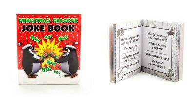 """CHRISTMAS CRACKER JOKE BOOK"" A Mini Book With Over 100 Jokes ~ Brand New"