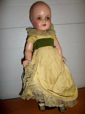 """Arranbee ? Nancy Doll ~ Vintage 19"""" Composition Character Doll"""