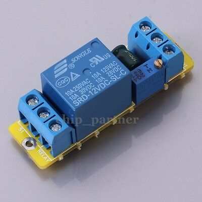 NE555 12V Relay Delay Module Power On/off Single Channel Timer Switch 1-15s