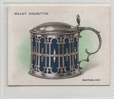 #17 Mustard Pot with Glass Liner (1771) - Old Silver Card