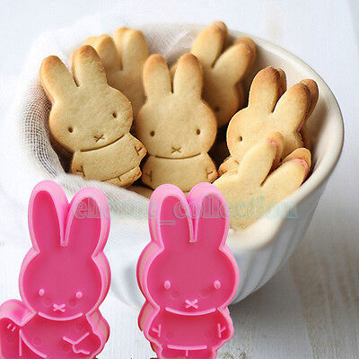 Cute Bunny DIY Fondant Cake Plunger Cookie Mold Cutter Easter Decor Baking Tool