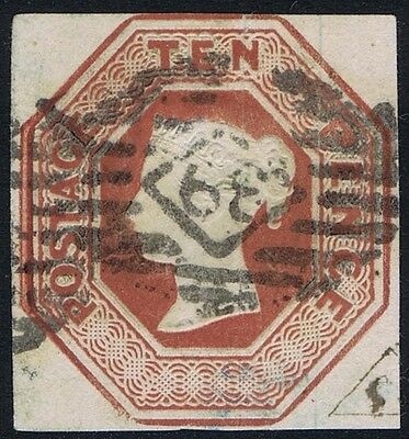 1848 10d Embossed SG 57 10d Brown Very Good Used Cat. £1500.00