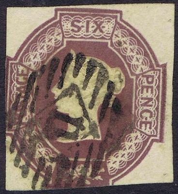 1854 6d Embossed SG 59 6d Dull Lilac Fine Used Cat. £1000.00