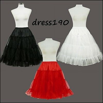 "RED/BLACK/WHITE 50s PROM/PINUP/SWING/WEDDING/BRIDESMAID 26"" PETTICOAT/UNDERSKIRT"