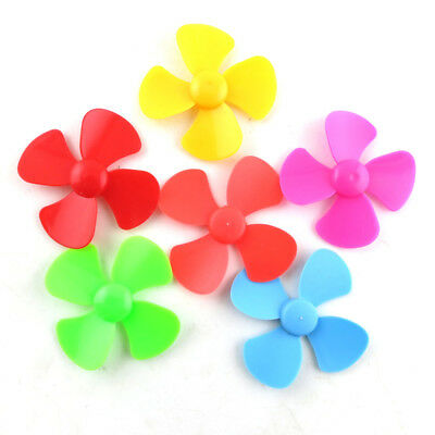 ABS Plastic Propeller 4 Blade For DIY Airplane Fan Model 2mmx40/60/80/100mm