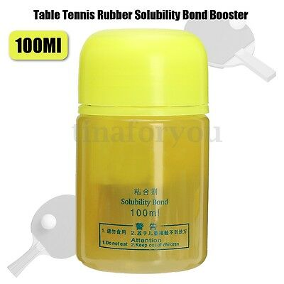 100ml Yellow Speed Glue Sponge Booster Rubber Tune Oil For Table Tennis Games