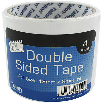 Double Sided Tape - 4 Rolls, Stationery, Brand New