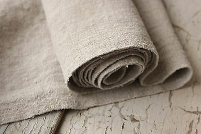 28 WIDE !!! Homespun linen antique fabric material 2.5 YDS WASHED material