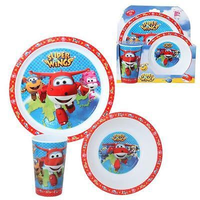 Super Wings - Set Tableware - Microwave Dinnerware Set - Plate, Bowl, Tumbler