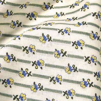 Ditsy Print, Unbranded Cotton, Blue Yellow Cream, Per 1/2 Yd