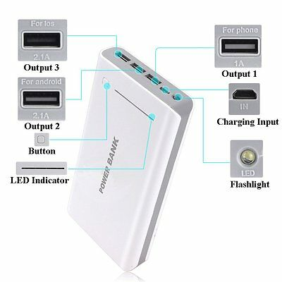 50000mAh 3 USB Battery Power Bank Charger for Samsung Galaxy S5 S6 S7 Edge lot