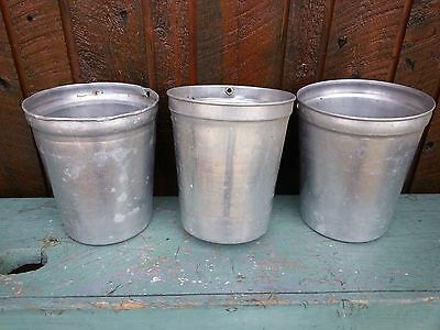 VINTAGE Maple Syrup 3 Sap Buckets ORIGINAL OLD Great Flowering DECOR Ready 2 Use