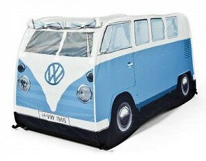 Vw T1 Camper Van Pale Blue Childrens Kids Tent - Vw Approved Merchandise