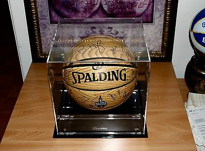 2016 NBA ALL-STAR Team Signed Basketball W/Coa+Case+Exact Proof *HARDEN-LOWRY*