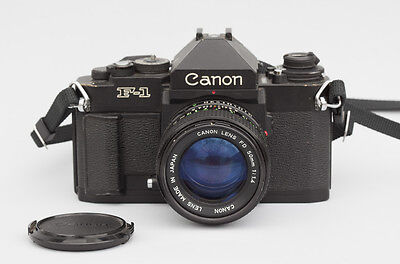 Canon F1 (New) Film Camera with 50mm Canon F1.4 FD Lens