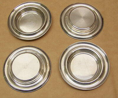 Towers Sterling  03  Ashtrays/Coin Dishes set of 4   Very Good