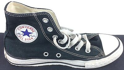 0458521d490a Size 2 Youth Kids Black   White Converse All Star Hi-Top Sneakers Shoes  Unisex