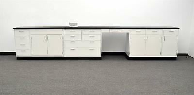 15' Fisher Hamilton Base Laboratory Cabinets  PA3-OPEN 1 - 3 Gently Used