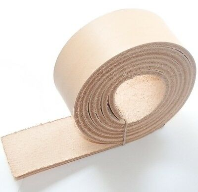 "3.5MM NATURAL VEG TAN PREMIUM LEATHER BELT BLANKS 140cm - 55"" INCHES LONG"