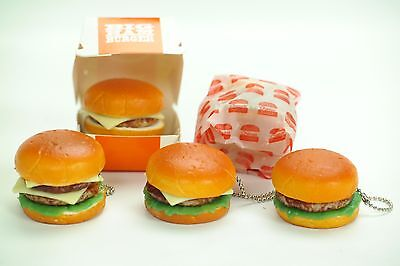 Mini Squishy Hamburger J Dream Dollhouse Fake Fast Food keychain Figures