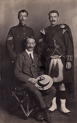 WW1 Group including 2x Band Sergeants one a Piper ? Gordon Highlanders Dover