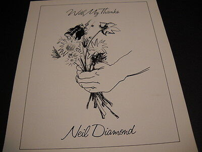 NEIL DIAMOND brings you flowers with his thanks PROMO DISPLAY AD mint condition