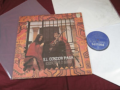 Cristina y Hugo  EL CONDOR PASA  -  LP Philips SFX-5102 Japan 1973 near mint
